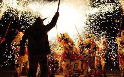 La Colla de Diables participa al correfoc dels diables de Lekeitio (País Basc)