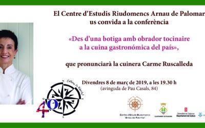Conferència «Des d'una botiga amb obrador tocinaire, a la cuina gastronòmica del país», a càrrec de Carme Ruscalleda