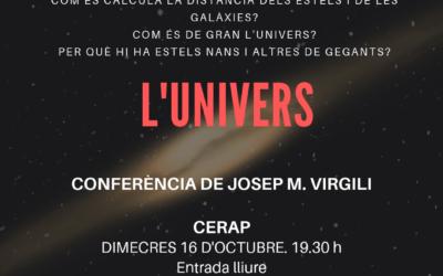 Cicle de conferències sobre astronomia. «L'univers»