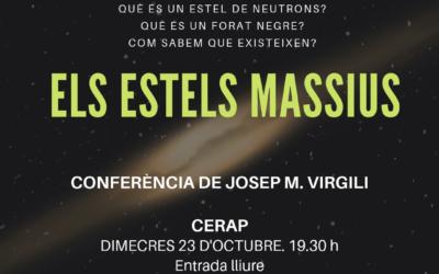 Cicle de conferències sobre astronomia. «Els estels massius»