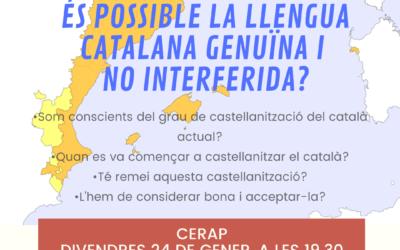 Conferència «És possible la llengua catalana genuïna i no interferida?», a càrrec de Josep Maria Virgili