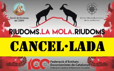 Cancel·lada la Caminada Riudoms_la Mola-Riudoms 2020