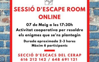 #laculturaacasa: Sessió d'Escape Room