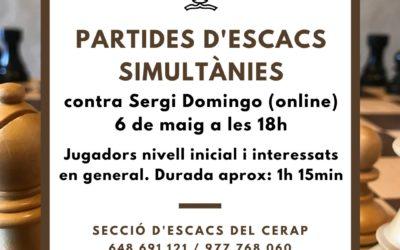 #laculturaacasa: Partides d'escacs simultànies
