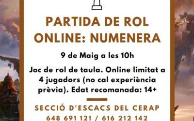 #laculturaacasa: Partida de rol Numenera