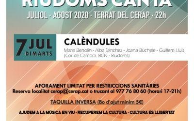 Cicle de concerts a la fresca «Riudoms canta»: Calèndules