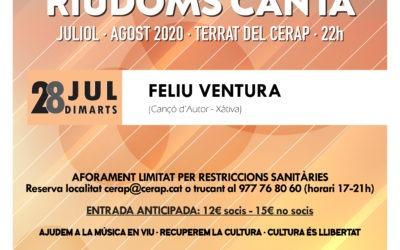 Cicle de concerts a la fresca «Riudoms canta»: Feliu Ventura