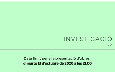 Premis Arnau de Palomar 2020: Investigació