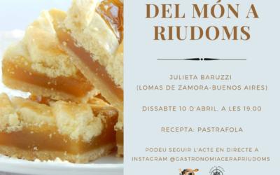 «La cuina del món a Riudoms»: Julieta Baruzzi