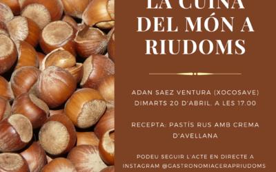 «La cuina del món a Riudoms»: Adan Saez Ventura