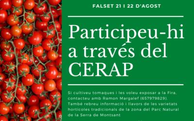 El CERAP col·labora amb la Fira de la Tomaca del Priorat