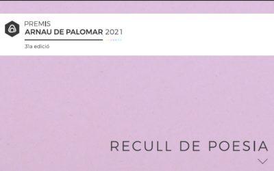 Premis Arnau de Palomar 2021: Recull de poesia